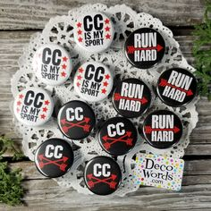 Our Graphics Team works together to create this artwork exclusively for us. Pinback Buttons, Button Badge, Pin Badges, Cross Country, Little Gifts, Gifts For Friends, Runners, Party Favors, Artwork