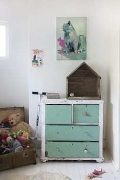 Children's room - Vintage dresser - Home of Jacqueline Fink of Little Dandelion - Via The Design Files