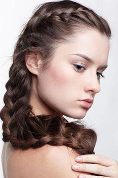 "Formal Braids for Long Hair, ""elegant yet sexy."" LEW"