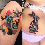 No #tattoofriday da semana, falamos sobre @karlmarks1, tatuador que mistura cores em degradê, detalhes que lembram aquarela, desenhos geométricos e até realismo. Link na bio pra saber mais!  Colorful art by @karlmarks1, an incredible tattoo artist from Canada. We love the lines, style and details. Check it out more about him at FTC! #tattoo #tatuagem #inked #karlmarkstattoo #cores #followthecolours