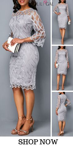 This dress with bodycon and Light Grey Dress design can show your sexy perfectly,you can wear it to your party or have a date with your friends,which is very suitable,this dress can make you the most attractive woman at the night.Get one you prefer. Mode Outfits, Dress Outfits, Casual Dresses, Fashion Outfits, Formal Dresses, Dress Fashion, Denim Dresses, Fashionable Outfits, Work Fashion
