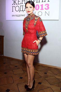 I love this dress! I would love it even more at knee length. Miroslava Duma