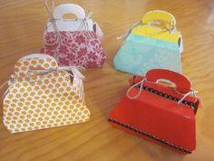 Cajas de regalo en forma de bolso, con explicación y patrones!!!!