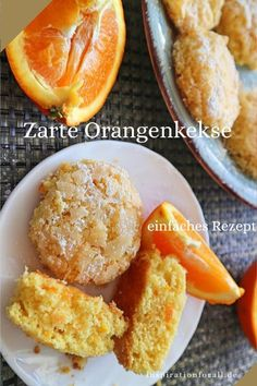Orange biscuits very tender and aromatic - simple recipe - Leckere Rezepte von inspirationforall.de – einfach, schnell, besonders,Orangenkekse sehr zart & aromatisch – einfaches Rezept Soft and aromatic orange biscuits Easy Cake Recipes, Cookie Recipes, Dessert Recipes, No Bake Cookies, Cookies Et Biscuits, Easy Biscuit Recipe, Orange Cookies, Christmas Biscuits, Christmas Cookies