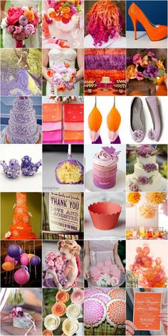Pink,  Purple & Orange Wedding Eats & Drinks  ♥ ♥ ♥ LIKE US ON FB: www.facebook.com/confettidaydreams ♥ ♥ ♥