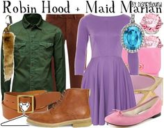 Robin Hood and maid Marion