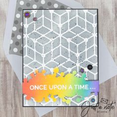 This project uses the Full of Pride set by Kindred Stamps & Puzzle Box Stencil by The Rabbit Hole Designs. Check out my blog for more details on how I made this card!