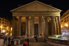 Pantheon at night by chbD During The Day, Mystic Places, Gazebo, Greek, Outdoor Structures, Night, Architecture, City, Middle