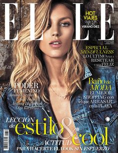 Anja Rubik on ELLE Spain magazine July 2016 Cover