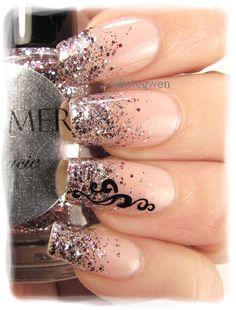 Nail Art by Belegwen: Shimmer Polish: Lucie