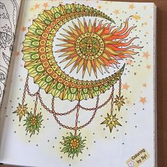 Another page from Magisk gryning is done.#hannakarlzonmagiskgryning #hannakarlzon #ochtendgloren #fabercastellpittartistpen #posca #fabercastellpastels #coloring #coloringbook #coloringbyme #coloringisfun #coloringbysyl