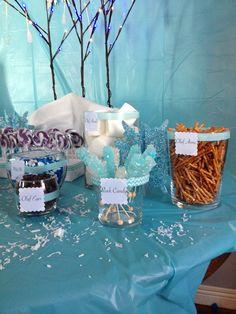 Frozen candy buffet for a lucky princes! Frozen Birthday Party, Frozen Party, 1st Birthday Parties, Frozen Candy Buffet, Party Themes, Party Ideas, Frozen Theme, Buffets, Disney Frozen