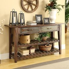 Coast to Coast - 2 Drw Console, Colored slats, Ashley Home, $428