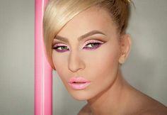 Pink make up❤