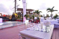 el ambiente abierto le dá mas belleza a tu boda.