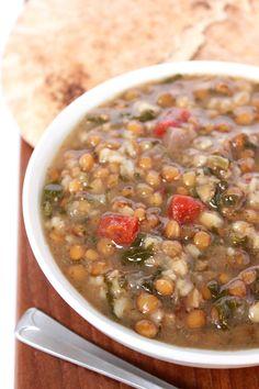Armenian Recipes, Armenian Food, Dried Lentils, Saag, Frozen Spinach, Middle Eastern Recipes, Chana Masala, Crockpot, Vegan Recipes