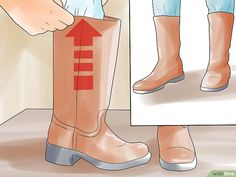 5 Ways to Stretch Boots - wikiHow Hunter Rain Boots, How To Stretch Boots, 5 Ways, Riding Boots, Stretches, Calves, How To Wear, Shoes, Life Hacks
