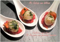 Cuillère aperitive noix de St Jacques