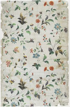 Works on Paper - Discovered Wall covering (Wallpaper fragment) - Search the Collection - Winterthur Museum