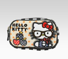 Hello Kitty Coin Purse: Scarf - Store your loose change in this adorable Hello Kitty Coin Purse. This lovely zipper closure features Hello Kitty in chic glasses and a scarf.