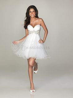 Lovely A-Line Strapless Sweetheart Organza Dress - HomeComing Dresses - Special Occasion Dresses Pretty Dresses, Beautiful Dresses, Gorgeous Dress, I Dress, Party Dress, Dress Prom, Dress Wedding, Maternity Wedding, Angel Dress