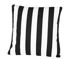 Black and White Striped Throw Pillows by PillowThrowDecor