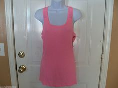 Mossimo Pink With Lace Back Top Tank Size XL Women's NEW  #Mossimo #TankCami #Casual
