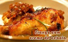 Receita fit de frango com creme de cebola #receitas #receitasfit #fitness #light #dieta