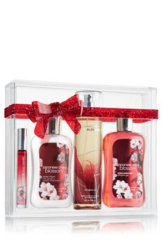 #festivefaves Bath and Body Works Japanese Cheer Blossom Gift Set. $39.50. @Bath & Body Works - GOT MINE FOR 22.50