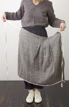 Grey linen apron | Plimsoles,