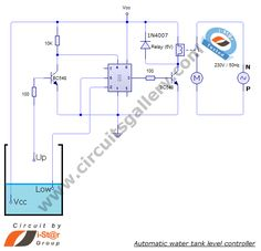 Automatic water tank level controller motor driver circuit- Engineering project without Microcontroller - Circuits Gallery
