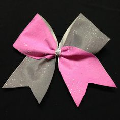 Low SHIPPING Rate  Cheer Bow-Pink & Gray with by Bowtique781 #cheer #cheerbow #cheerleader #cheerleading #cheerleadingbow
