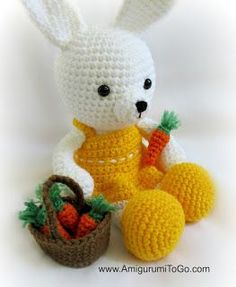 Amigurumi Basket of Carrots - FREE Crochet Pattern / Tutorial