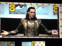 That's right. Tom went to SDCC and gave a full monologue as Loki. That's why he's the best!