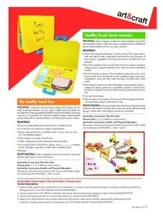 ART AND CRAFT FOR HEALTH. AUSTRALIAN CURRICULUM. - TeachersPayTeachers.com