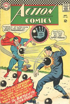 Action Comics #341 (1966) - Superman vs Clark Kent by Paxton Holley, via Flickr