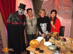 Halloween www.color-diving.com, Bodypainting mit Fotoshooting Bodypaintingkünstlerin: Marlies Brinker bei Astro TV Leichter leben