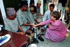 C/n 013137 Princess Diana at Anandaban Leprosy Hospital Nepal 03-04-1993 Photo by Alpha-Globe Photos
