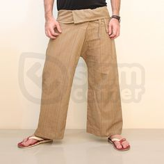 Thai Fisherman Wrap Pants Beige. Buy Cheap Yoga Pants. We ship worldwide. #yogapants #yoga #namaste