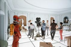 Kubrick shooting 2001 A Space Odyssey