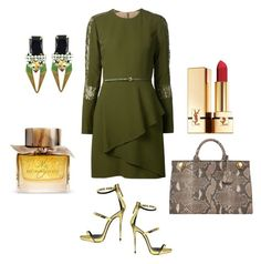 """""""Untitled #75"""" by nakais-closet on Polyvore featuring Elie Saab, Iosselliani, Giuseppe Zanotti, Anya Hindmarch, Burberry and Yves Saint Laurent"""