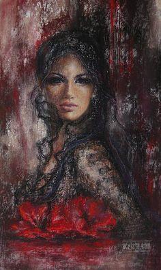 B Alexandrina Karadjova Horse Oil Painting, Oil Painting On Canvas, Oil Pastel Paintings, Expressive Art, Art Abstrait, Portrait Art, Beautiful Paintings, Figurative Art, Love Art