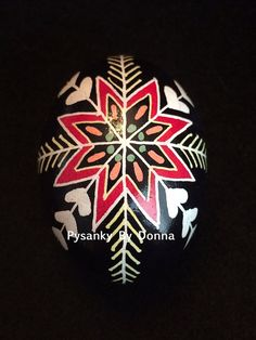 Traditional Rose Pysanky Pysanka Batik Easter by PysankyByDonnaJ