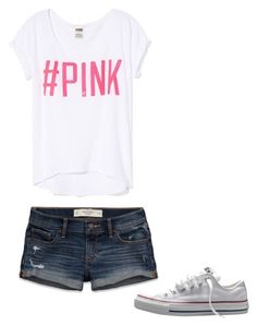 by melodyleighmitchell on Polyvore featuring polyvore, fashion, style, Victoria's Secret PINK, Abercrombie & Fitch and Converse