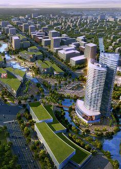 'Shenyang International Automobile City' -  Mandżuria - Chiny -  Winning Proposal / SBA International