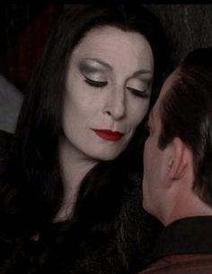 Anjelica's Morticia makeup