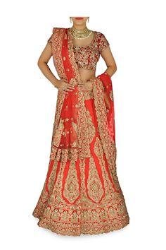 Red color wedding lehenga choli