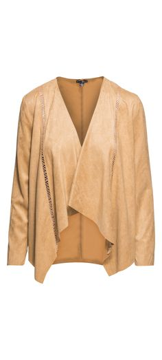 Faith Apparel Suede Open Front Cardigan in Brown / Manage Products / Catalog / Magento Admin