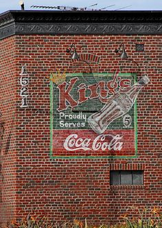 Vintage advertizing. Coca Cola for 5 cents