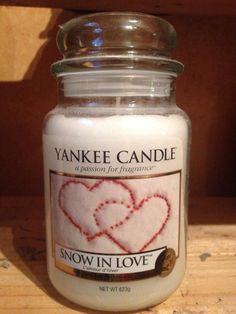 yankee candle snow in love large jar new